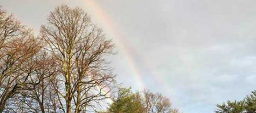 ¿Un arcoíris cuádruple? Mira esta curiosa imagen