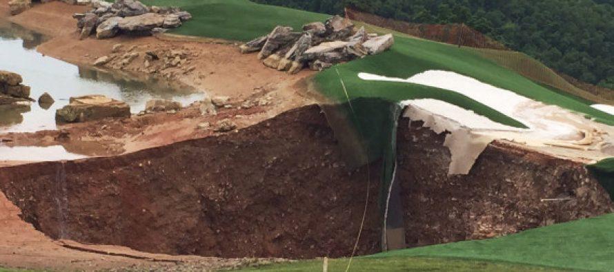 Aparecen cuatro fosos gigantes de hasta 23 metros de diámetro en un campo de golf en EE.UU.