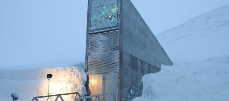 Almacenan alimentos en bunker bajo hielo para la catástrofe mundial que se avecina