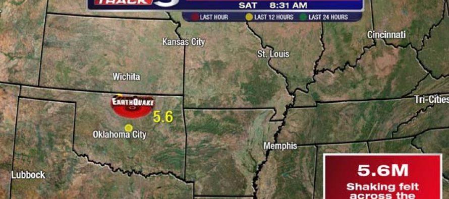 Un terremoto de 5,6 grados Richter sacude el estado de Oklahoma
