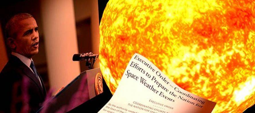 Obama ordena que Estados Unidos se prepare para una gran tormenta solar