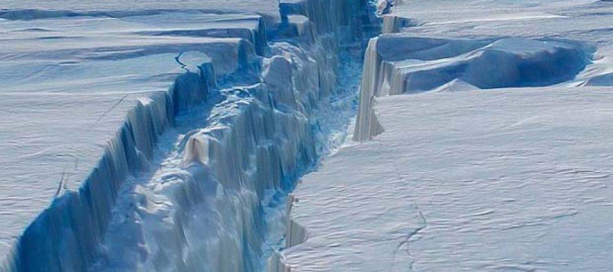 El mayor dique glaciar antártico se agrieta y se teme que colapse