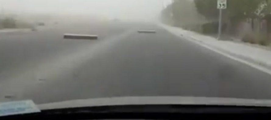Árboles arrancados y vuelos cancelados: Una fuerte tormenta azota Las Vegas