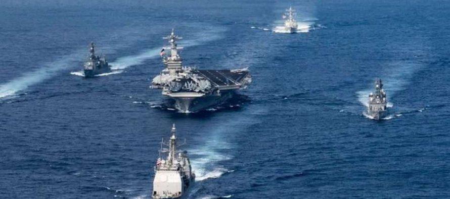 Tres portaaviones de EE.UU. y sus grupos de ataque se reunirán en la península coreana