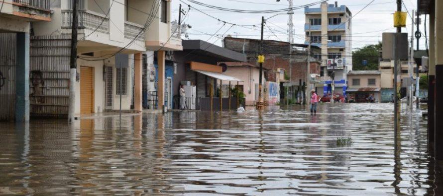 Milagro inundado por las fuertes lluvias invernales