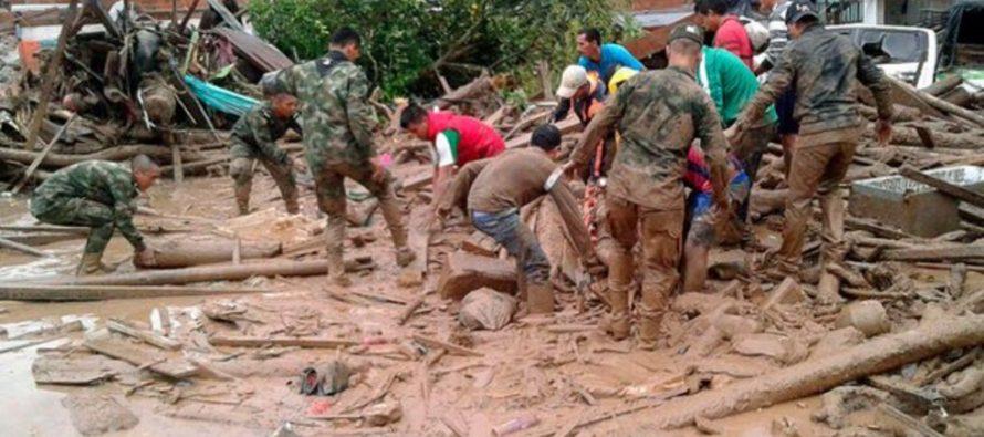 Van 154 muertos por avalancha en Colombia; decretan estado de calamidad