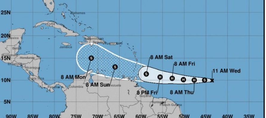 Se formó la tormenta tropical Gonzalo en el Océano Atlántico: podría convertirse en huracán este jueves