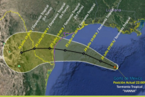 La tormenta tropical Hanna se forma en el Golfo de México