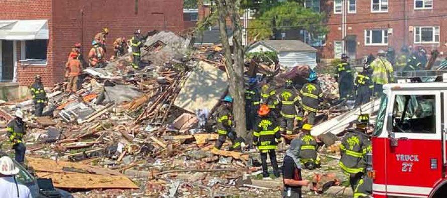 Una gran explosión destruye varias casas en Baltimore Uno muerto y varias personas atrapadas (Fotos y  Videos)